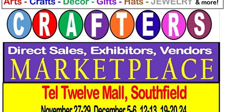 Michigan Arts Crafts Show 2020 at Tel Twelve, Southfield - SPECIAL OFFER tickets