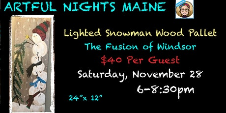 Lighted Wood Pallet Snowman at The Fusion of Windsor tickets