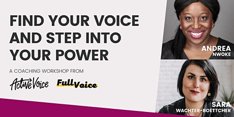 Find your voice and step into your power tickets