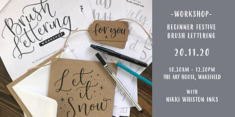 Beginner Festive Brush Lettering Workshop tickets