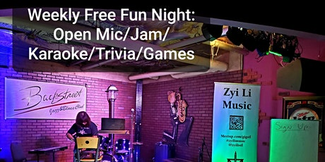 Weekly Open Mic, Karaoke, Trivia, and Open Jam Session (All Talents) tickets