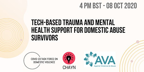 Tech-based Trauma Support for Domestic Abuse Survivors Panel Discussion tickets