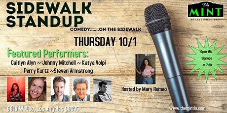 Sidewalk Standup - comedy....open mic Plus Featured Performers tickets
