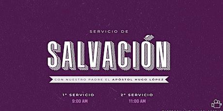 Servicio de  Salvación   9 A.M. entradas