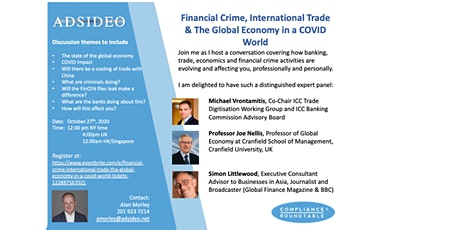 Financial Crime, International Trade & The Global Economy in a COVID World tickets