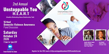 2nd Annual Unstoppable You H.E.A.R.T. Virtual Domestic Violence Awareness P tickets