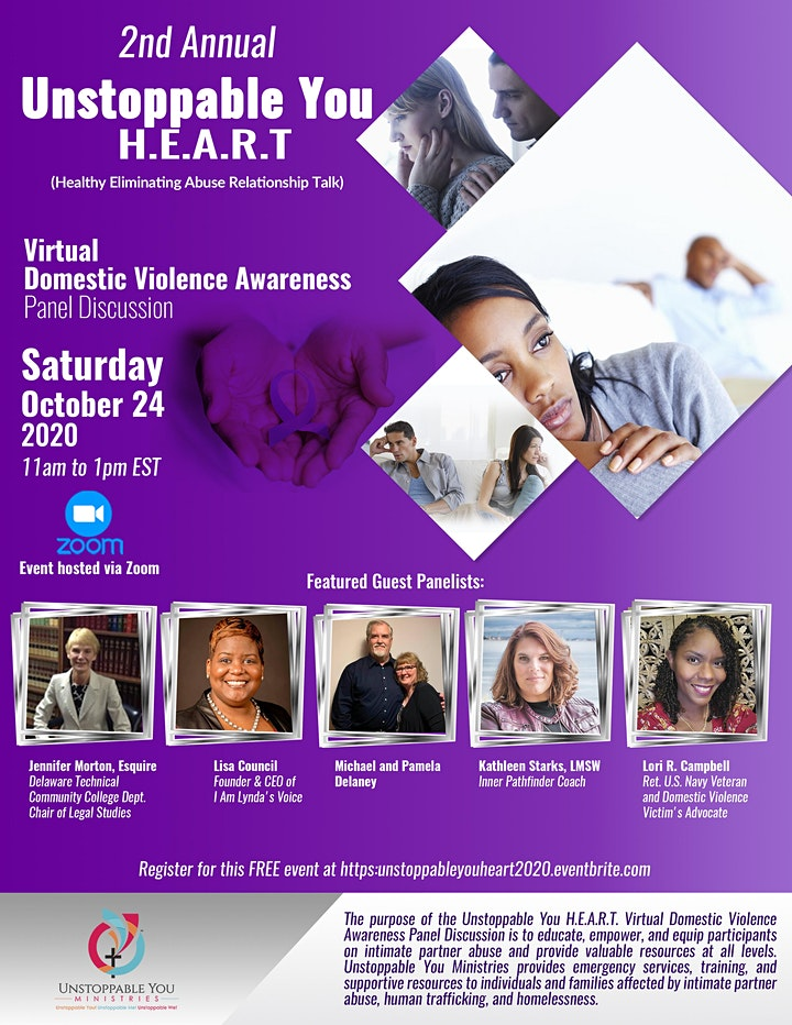 2nd Annual Unstoppable You H.E.A.R.T. Virtual Domestic Violence Awareness P image