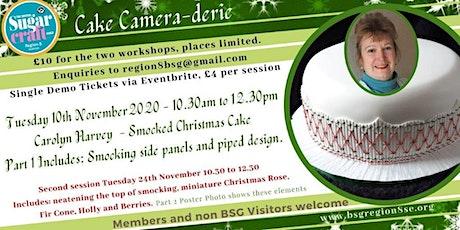 Smocked Christmas Cake Workshop Part 1 Carolyn Harvey tickets