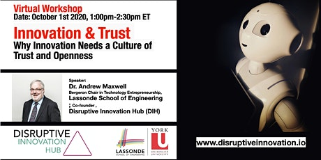 Innovation & Trust: Why Innovation Needs a Culture of Trust and Openness tickets