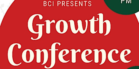 Growth Conference by BCI tickets