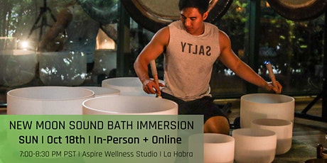 New Moon Sound Bath Immersion (In-Person + Online) tickets