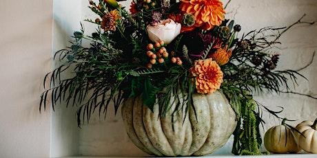 Pumpkin + Sip Flower Arrangement Class tickets