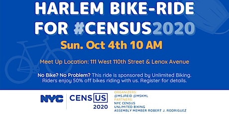 Harlem Rides For Census 2020 tickets