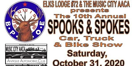 The Tenth Annual Spooks and Spoke Car, Truck & Bike Show tickets