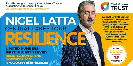 Nigel Latta | Resilience | QUEENSTOWN tickets