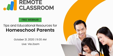 Free Webinar:  Tips and Educational Resources for Homeschool Parents tickets