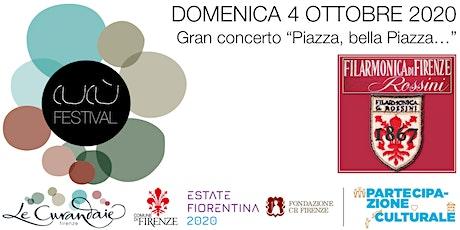 """CuCù Festival - Concerto della Filarmonica Rossini """"Piazza bella piazza..."""" biglietti"""