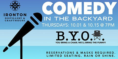COMEDY IN THE BACKYARD Thursday 10.01 + 10.15 tickets