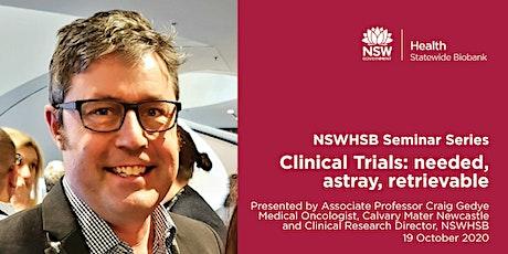 NSWHSB Seminar Series - Associate Professor Craig Gedye tickets