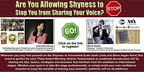 Public Speaking Skills for  SHY (and Introvert) individuals! tickets