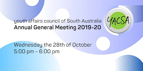 YACSA Annual General Meeting 2019-20 tickets