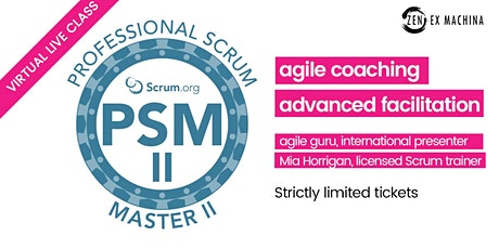 Agile Coaching with Advanced Scrum Master (PSM II) tickets