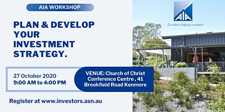 AIA Brisbane Workshop: Plan & develop your investment strategy tickets