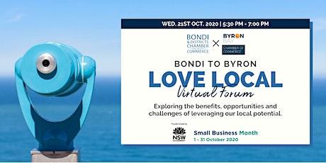 Bondi to Byron LOVE LOCAL Virtual Forum tickets