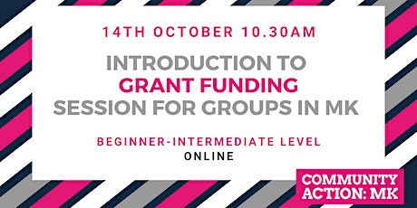 Funding Session for VCSE Groups in Milton Keynes - online tickets