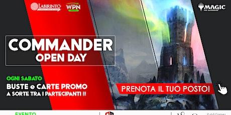 COMMANDER Open Day | Sabato - dalle 14:30 biglietti