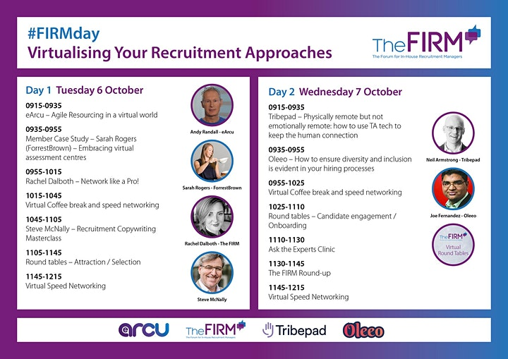 The FIRM's Online Event - Virtualising Your Recruitment Approaches image