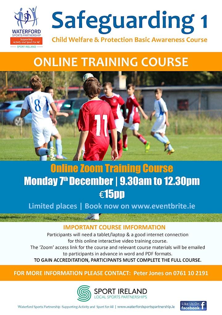 Safeguarding 1 Course - Online - 7th December 2020 image