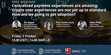 Centralized VS Decentralized Payments - How are we going to get adoption? tickets