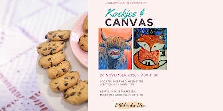 Koekjes & Canvas - Schilderworkshop kinderen - Winterdieren tickets