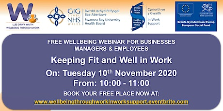 Keeping Fit and Well in Work tickets