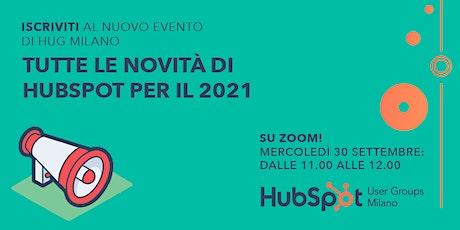 [WEBINAR] Tutte le novità di HubSpot per il 2021 biglietti