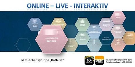"ONLINE-BEM-Arbeitsgruppe ""Batterie"" November 2020 Tickets"
