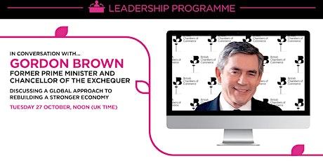 In conversation with Gordon Brown tickets
