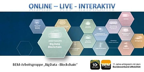 "ONLINE-BEM-Arbeitsgruppe ""BigData - Blockchain"" Oktober 2020 Tickets"