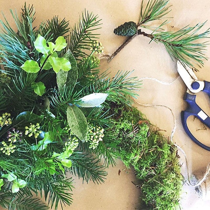 Christmas Wreath Making with Dorset Flower Co image