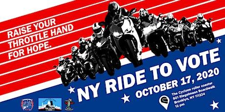 NY RIDE TO VOTE 2020 tickets