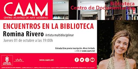 Encuentros en la Biblioteca con Romina Rivero entradas