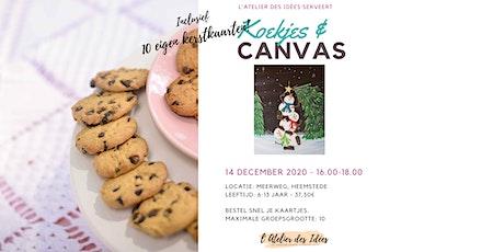 Koekjes & Canvas - Schilderworkshop kinderen incl. kerstkaarten - Kerstboom tickets
