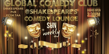 Global Comedy @Shakespeares pub Sunday tickets