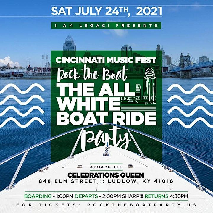 Rock The Boat All White Boat Ride Day Party | Cincinnati Music Festival 2021