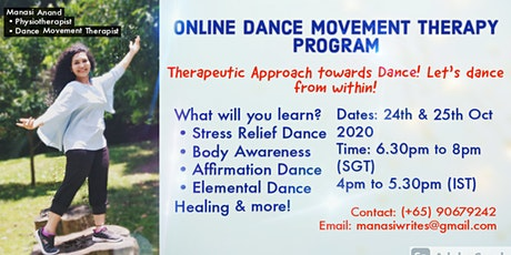 Online Dance Movement Therapy Program (2 Sessions) tickets