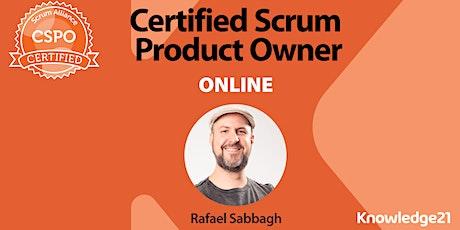 Certified Scrum Product Owner® CSPO (24 a 27 de Novembro - Online/Portugal) ingressos