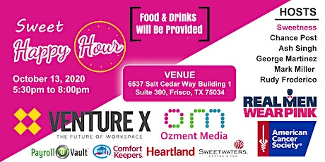 Sweet Happy Hour - Business Mixer & Breast Cancer Fundraiser tickets