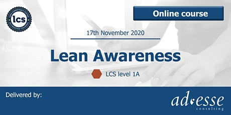 Lean Awareness Qualification (LCS Level 1A) tickets