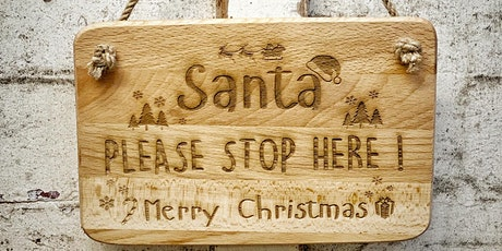 Ceramic Santa Stop Here Signs (6-10 years) tickets